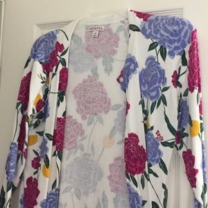 Floral cardigan, worn once